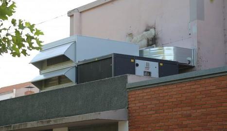 El nou sistema de climatització del cine de Mequinensa.