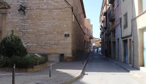 El carrer de Santa Maria de Tàrrega.
