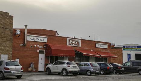 Vista de la cafeteria, al número 26 del carrer de la Fusta.