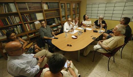 La reunió de l'executiva local del PSC, el dia 2 passat.