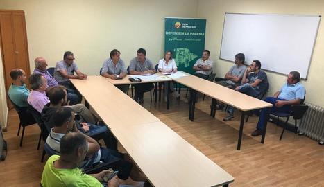 Imatge de la reunió d'UP que es va celebrar ahir a Vielha.