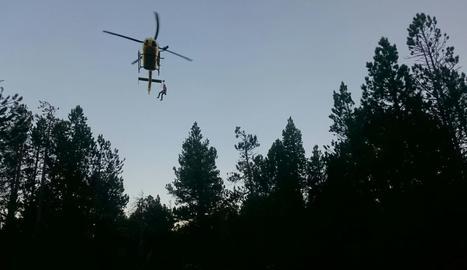 Imatge d'arxiu d'un helicòpter del Grup d'Actuacions Especials (GRAE).