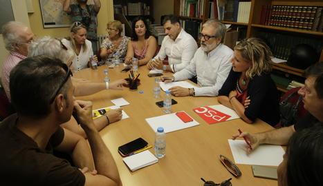 La reunió de l'executiva del PSC de Lleida.