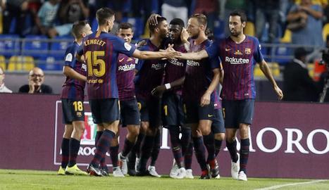 Leo Messi va aixecar el seu primer trofeu com a capità blaugrana.
