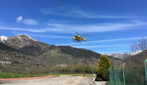 Imatge d'arxiu de l'heliport de Vielha.