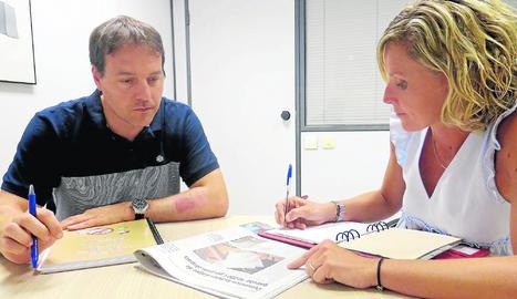 Mínguez se reunió ayer con un responsable de Aigües de Lleida.
