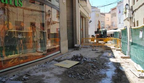 Les obres a la zona de la Vilaclosa.