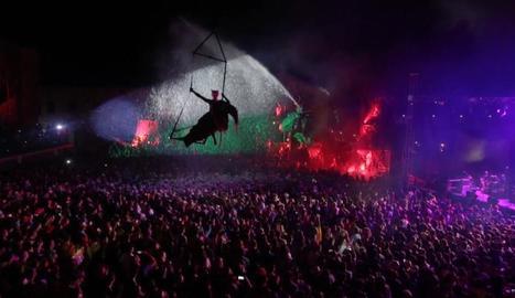 Espectacle de música i foc a la capital de la Segarra.