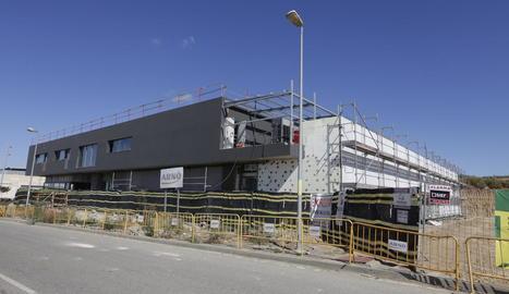 L'estat actual de la construcció de l'hospital veterinari per a la UdL a Torrelameu.