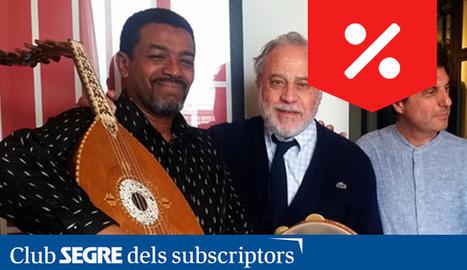 Els intèrprets Paniagua, Gibril i Burruezo, els Trobadors de les Tres Cultures.