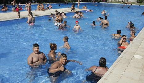 Les piscines del barri de Balàfia, a començaments d'agost.