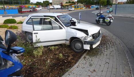 Imatge d'arxiu d'un cotxe robat a la ciutat de Lleida i que la Urbana va poder recuperar.