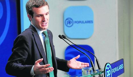Imatge d'arxiu del líder del PP, Pablo Casado.