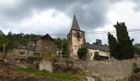 Vista del poble de Bausen.
