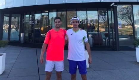 Els dos tenistes lleidatans que van competir a Vigo.