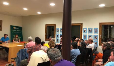 L'acte organitzat ahir a la nit per Unió de Pagesos a Vilaller.