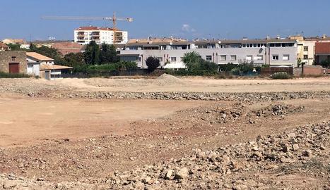 Moviments de terres per a la segona residència de la CAG.