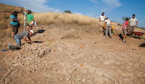 Una dotzena d'arqueòlegs participen en els treballs per recuperar la necròpoli ibèrica.