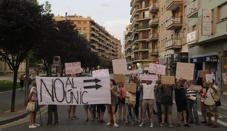 Enèsim tall de protesta al carrer Lluís Companys