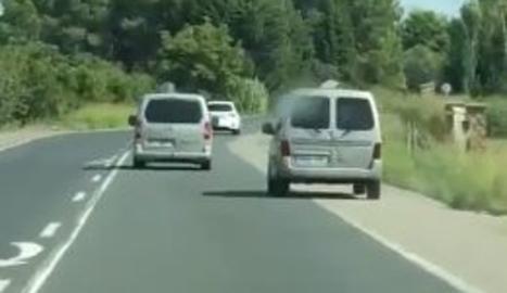 VÍDEO. Graven un conductor temerari a l'entrada a Lleida
