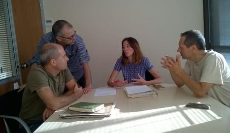 Imatge de la reunió sobre l'estat dels boscos aranesos.