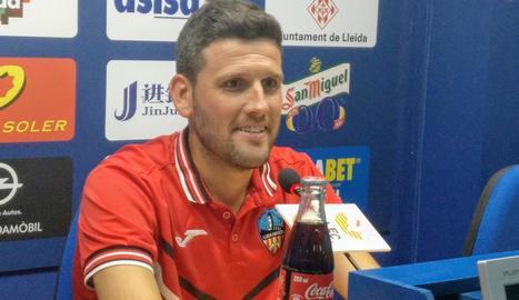 Gerard Albadalejo, ahir durant la roda de premsa.