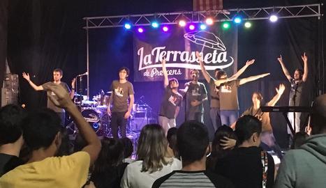 Els lleidatans La Terrasseta de Preixens van animar divendres a la nit el Festival de la Granadella.