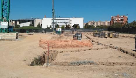 Les obres per a la fonamentació del segon edifici polivalent del campus de Cappont.