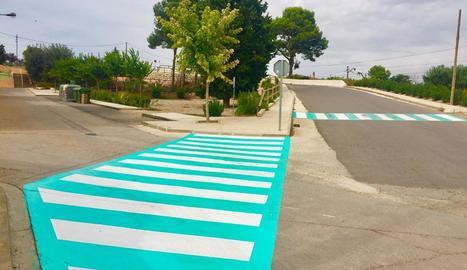 Els nous passos de l'itinerari per a escolars d'Almacelles.