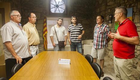 Reunió dels alcaldes de l'Urgell el passat 4 d'agost.