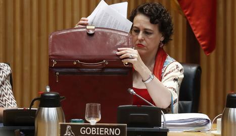 La ministra de Treball, Magdalena Valerio