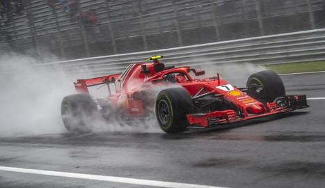 Els Ferrari dominen els lliures de Monza i accident d'Ericsson