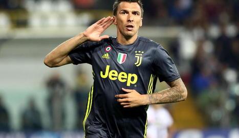 Mario Mandzukic celebra el gol amb la Juventus.