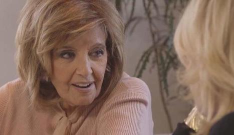 María Teresa Campos amb Mila.