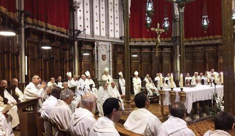 Imatge de la celebració del 425 aniversari del bisbat de Solsona.