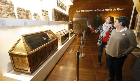 Exposició a Sixena amb les obres d'art traslladades des de Lleida.