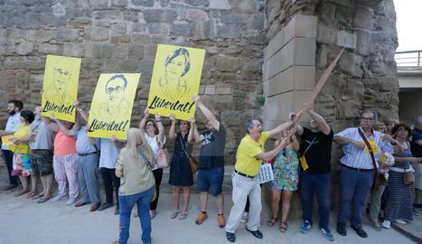 Imatges de la cadena humana a Lleida pels