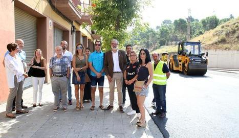 L'alcalde Fèlix Larrosa ha visitat les obres de millora del ferm de Cardenal Cisneros.