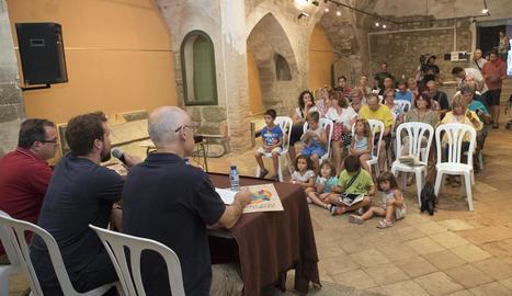 La presentació de la Isagoge, ahir a Sant Joan Degollat.