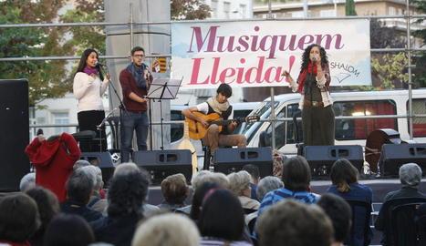 Un concert del festival l'any passat a la plaça Ricard Viñes.