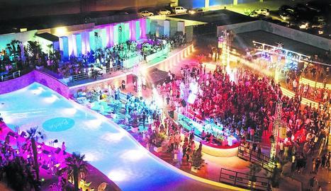 La discoteca d'estiu Biloba, ubicada al polígon NeoParc.