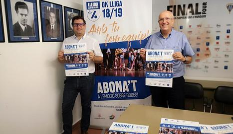 El club va presentar ahir la campanya d'abonaments.