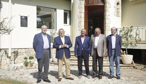 Membres del grup, entre ells Andreu Pi, Siurana i Grau.