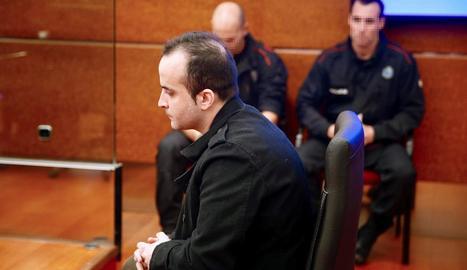 Imatge de l'acusat en el judici celebrat ahir a Vitòria.