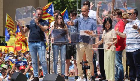 Guardiola, durant un acte de suport al referèndum de l'1-O.