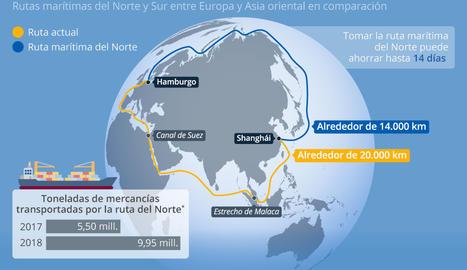 El calentamiento global abre nuevas vías de transporte por el Ártico