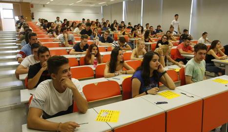 Alumnes que es van presentar a la selectivitat del setembre.