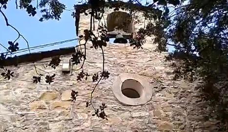 Imatge del campanar de la Terreta, nucli de Tremp.