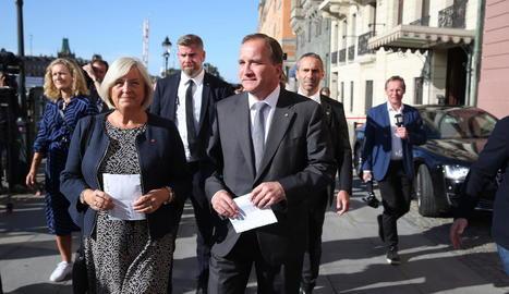 El primer ministre suec, Stefan Löfven, ahir a Estocolm.