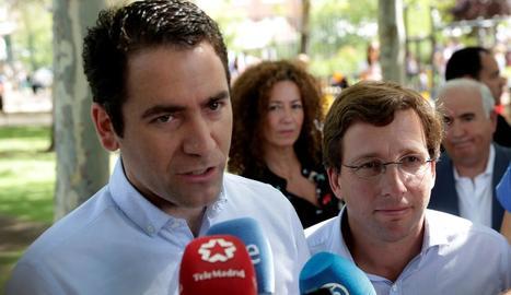 Teodoro García Egea va atendre ahir els mitjans.